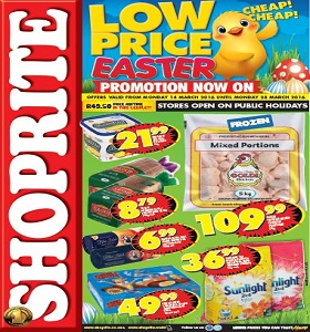 Shop Rite Catalogue Specials 14 March - 28 March 2016. Low Price Easter