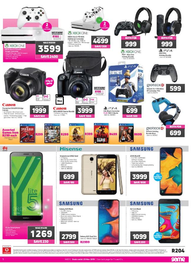 Best Auto Deals >> Game Black Friday Specials & Deals 2020 - R100 Million Saving