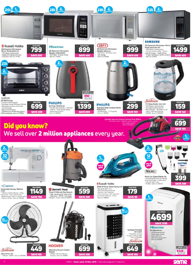 Game Black Friday Specials & Deals 2020 - R100 Million Saving