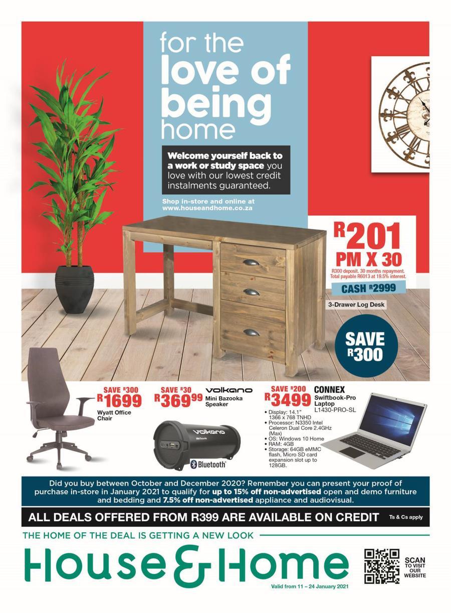House & Home Catalogue 11 January - 24 January, 2021